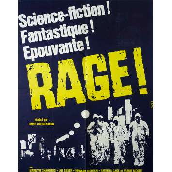 RAGE Affiche de film - 60x80 cm. - 1977 - Marilyn Chambers, David Cronenberg