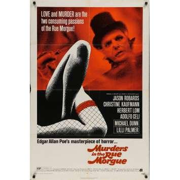 MURDERS IN THE RUE MORGUE Original Movie Poster - 27x41 in. - 1971 - Gordon Hessler, Jason Robards