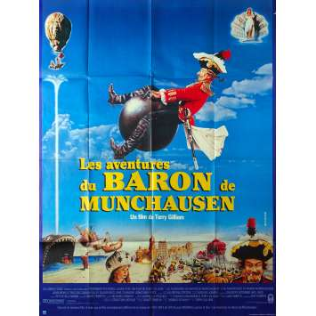 THE ADVENTURES OF BARON MUNCHAUSEN Original Movie Poster - 47x63 in. - 1988 - Terry Gilliam, John Neville