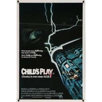 CHILD'S PLAY Original Movie Poster - 29x40 in. - 1988 - Tom Holland, Catherine Hicks