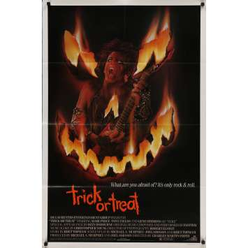 TRICK OR TREAT Original Movie Poster - 27x41 in. - 1986 - Charles Martin Smith, Marc Price