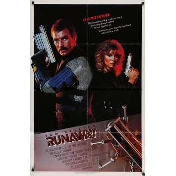RUNAWAY Original Movie Poster - 27x41 in. - 1984 - Michael Crichton, Tom Selleck