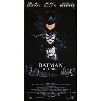 BATMAN 2 LE DEFI Affiche de film - 33x78 cm. - 1992 - Michael Keaton, Tim Burton