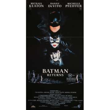 BATMAN RETURNS Original Movie Poster - 13x30 in. - 1992 - Tim Burton, Michael Keaton