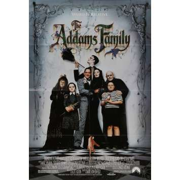 ADDAMS FAMILY Original Movie Poster DS - 27x41 in. - 1991 - Barry Sonnenfeld, Raul Julia