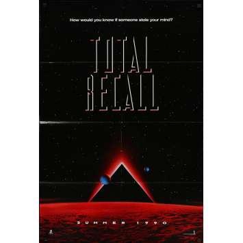 TOTAL RECALL Original Movie Poster - 27x41 in. - 1990 - Paul Verhoeven, Arnold Schwarzenegger