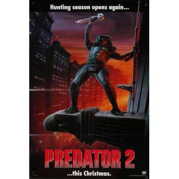 PREDATOR 2 Original Movie Poster DS - 27x41 in. - 1990 - Stephen Hopkins, Danny Glover