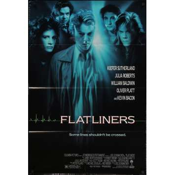 FLATLINERS Original Movie Poster - 27x41 in. - 1990 - Joel Shumacher, Kiefer Sutherland