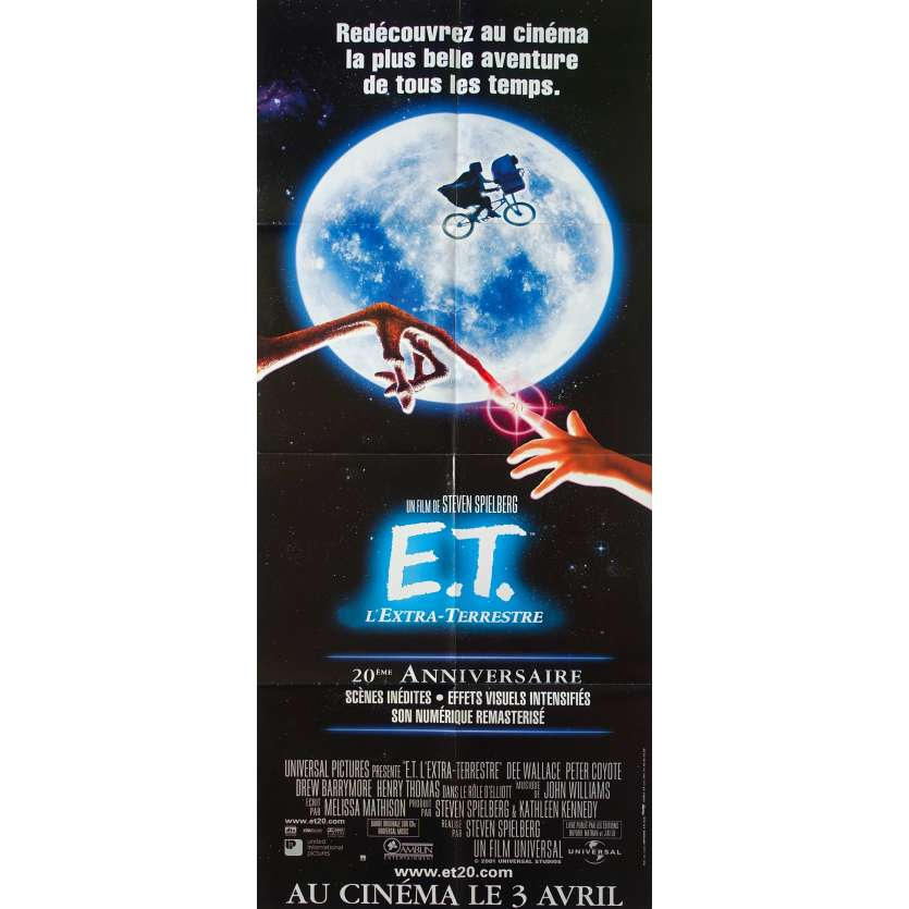 E.T. THE EXTRA-TERRESTRIAL Original Movie Poster - 23x63 in. - R2000 - Steven Spielberg, Dee Wallace