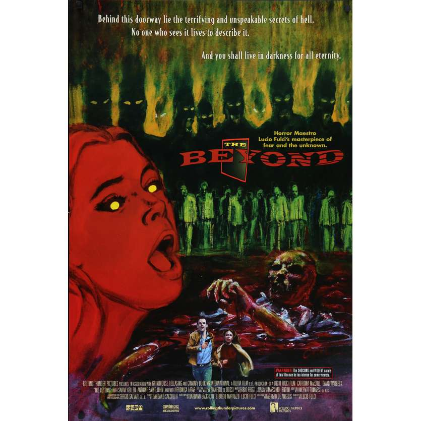 THE BEYOND Original Movie Poster - 27x40 in. - R1990 - Lucio Fulci, Catriona MacColl