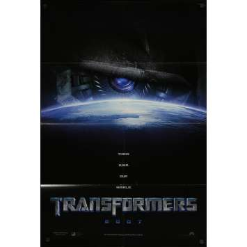 TRANSFORMERS Original Movie Poster DS - 27x41 in. - 2007 - Michael Bay, Shia LaBeouf