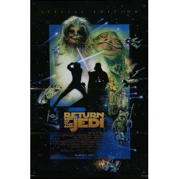 STAR WARS - LE RETOUR DU JEDI Affiche de film - 69x104 cm. - R2000 - Harrison Ford, Richard Marquand