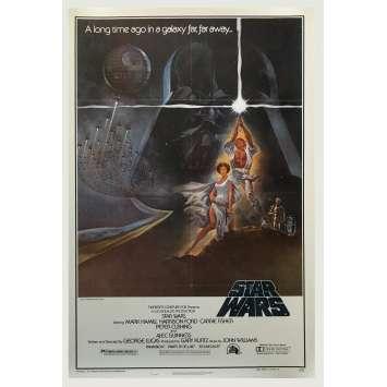 STAR WARS - LA GUERRE DES ETOILES Affiche de Cinéma Américaine entoilée. - 1977 - George Lucas