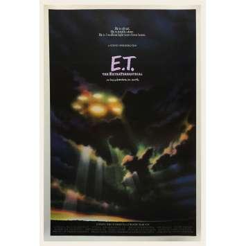 E.T. L'EXTRA-TERRESTRE Ultra-rare Affiche de film Préventive US - 1982 - Steven Spielberg
