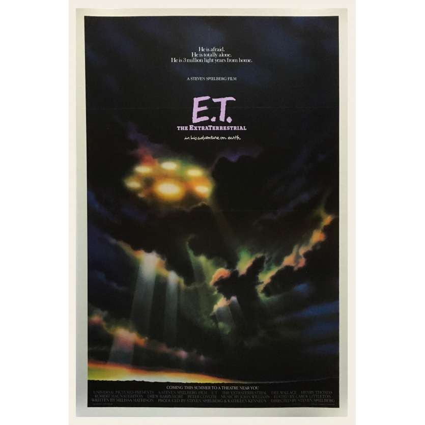 E.T. THE EXTRA-TERRESTRIAL Original Advance Movie Poster - 27x40 in. - 1982 - Steven Spielberg, Dee Wallace