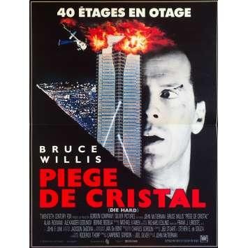 DIE HARD French Movie Poster 15x21 '88 Bruce Willis, Alan Rickman