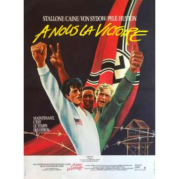 ESCAPE TO VICTORY French Movie Poster 15x21 1977 Sylvester Stallone, John Huston, Pelé