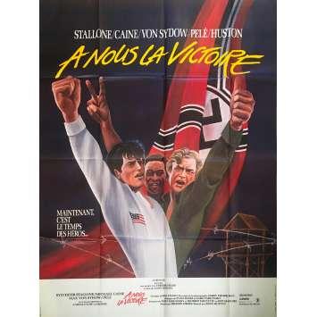 A NOUS LA VICTOIRE Affiche de film - 120x160 cm. - 1981 - Sylvester Stallone, Pelé, John Huston