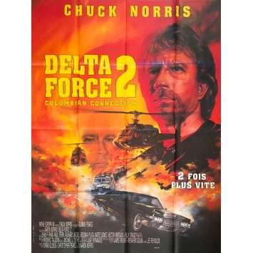THE DELTA FORCE 2 Original Movie Poster - 47x63 in. - 1990 - Aaron Norris, Chuck Norris