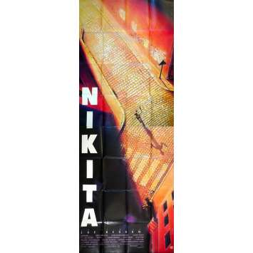 NIKITA Affiche de film - 120x320 cm. - 1990 - Anne Parillaud, Luc Besson