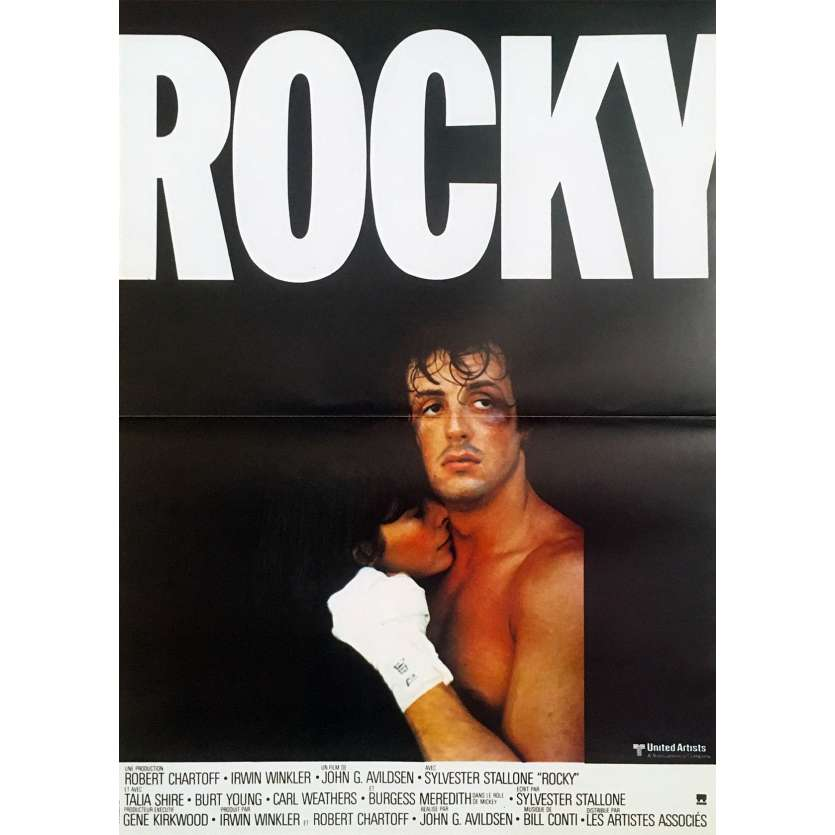 ROCKY Original Movie Poster - 15x21 in. - R1990 - John G. Avildsen, Sylvester Stallone