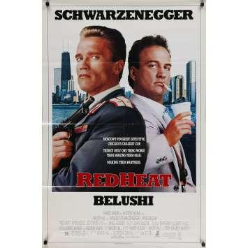 RED HEAT Original Movie Poster - 27x41 in. - 1988 - Walter Hill, Linda Blair