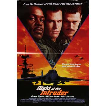 LE VOL DE L'INTRUDER Affiche de film - 69x104 cm. - 1991 - Danny Glover, Willem Dafoe, John Milius