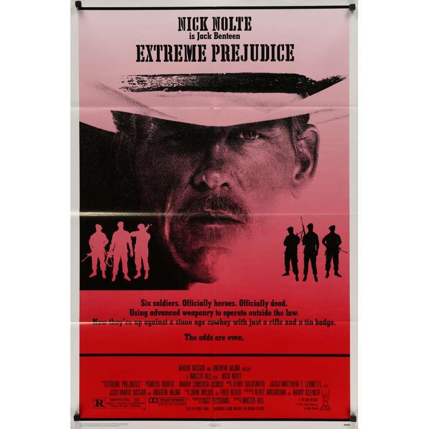 EXTREME PREJUDICE Original Movie Poster - 27x41 in. - 1986 - Walter Hill, Nick Nolte