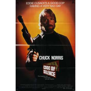 CODE OF SILENCE Original Movie Poster - 27x41 in. - 1985 - Andrew Davis, Chuck Norris
