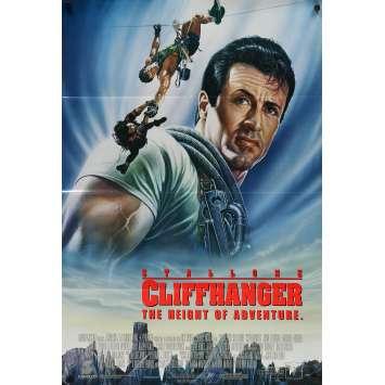 CLIFFHANGER Affiche de film DS - 69x104 cm. - 1993 - Sylvester Stallone, Renny Harlin
