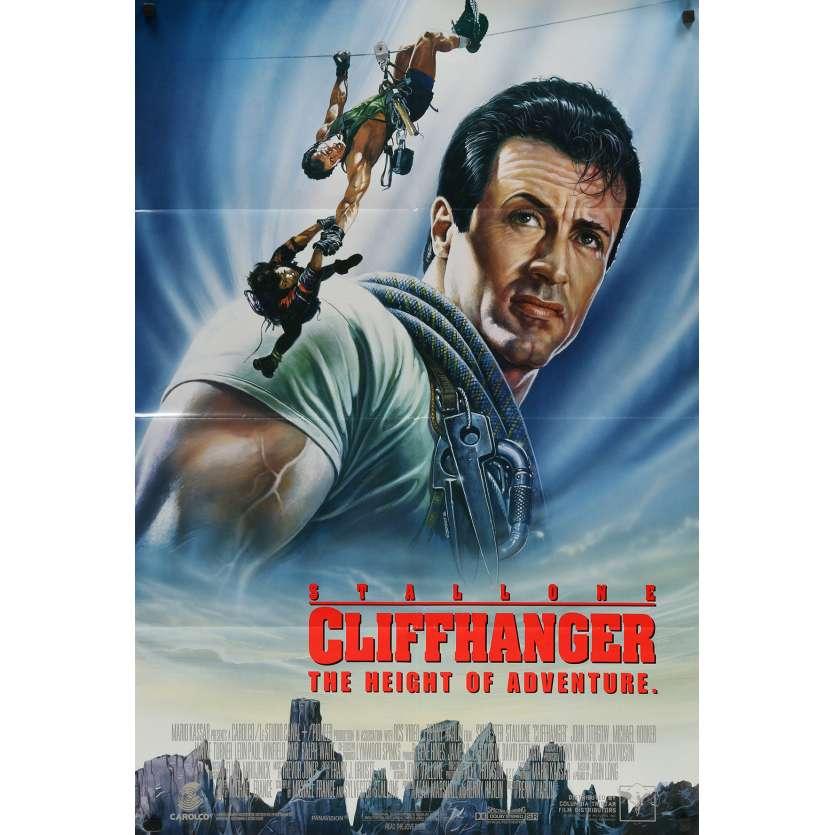 CLIFFHANGER Original Movie Poster DS - 27x41 in. - 1993 - Renny Harlin, Sylvester Stallone