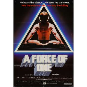 A FORCE OF ONE Original Movie Poster - 27x41 in. - 1979 - Paul Aaron, Chuck Norris