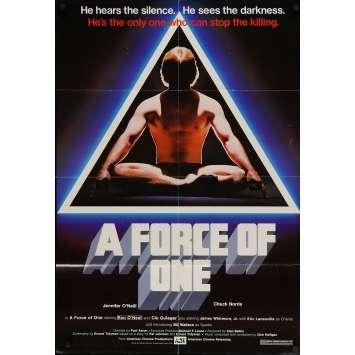 FORCE ONE Affiche de film - 69x104 cm. - 1979 - Chuck Norris, Paul Aaron