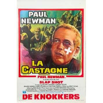 LA CASTAGNE Affiche de film - 35x55 cm. - 1977 - Paul Newman, George Roy Hill