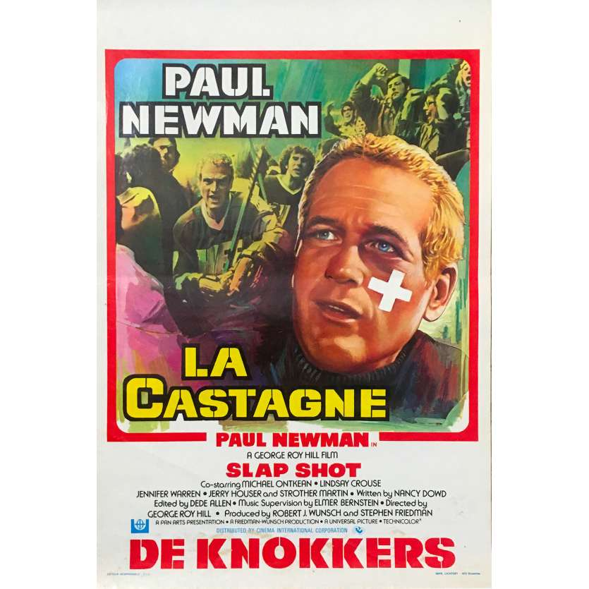 Slap Shot Belgian Movie Poster