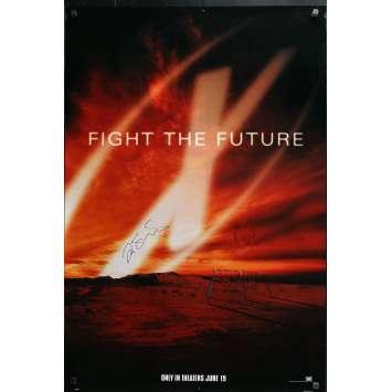 X-FILES Original 1sh Poster signed by CHRIS CARTER et FRANCK SPOTNITZ- 27x41 in. - 1998