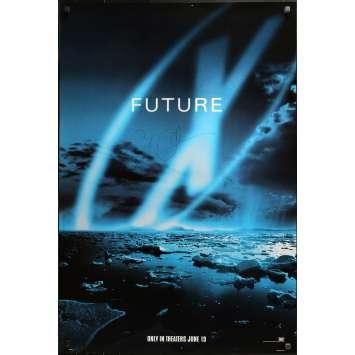 X-FILES Affiche de film US signée par GILLIAN ANDERSON - 69x104 cm. - 1998