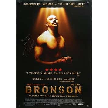 BRONSON Affiche de film US signée par NICOLAS WINDING REFN - 69x104 cm. - 2006