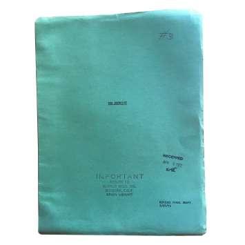 THE EXORCIST Original Movie Script - 9x12 in. - 1974 - William Friedkin, Max Von Sidow