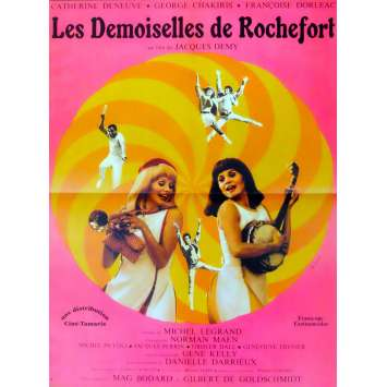 YOUNG GIRLS OF ROCHEFORT French Movie Poster 15x21- R-1980 - Jacques Demy, Catherine Deneuve