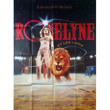 ROSELYNE ET LES LIONS Affiche de film 120x160 - 1989 - Isabelle Pasco, Jean-Jacques Beineix