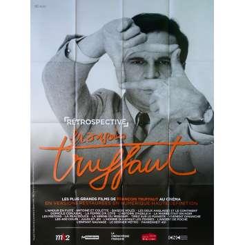 RETROSPECTIVE FRANÇOIS TRUFFAUT Affiche de film 120x160 cm - 2000 - Jean-Pierre Léaud, François Truffaut
