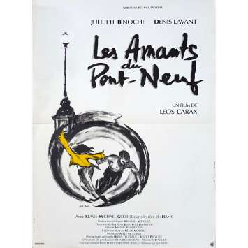 LES AMANTS DU PONT-NEUF Affiche de film - 40x60 cm. - 1991 - Juliette Binoche, Leos carax