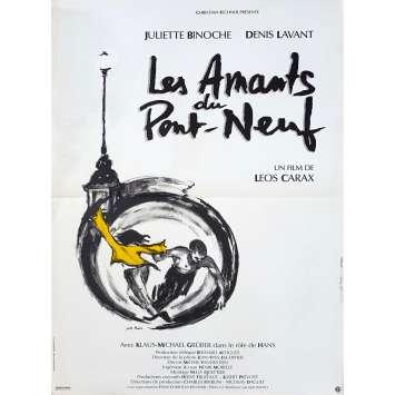 THE LOVERS ON THE BRIDGE Original Movie Poster - 15x21 in. - 1991 - Leos carax, Juliette Binoche