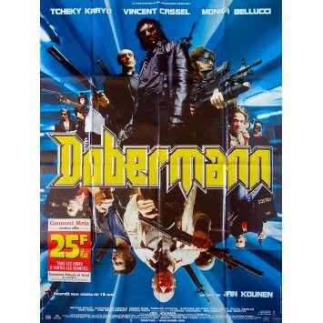 DOBERMAN Affiche de film - 120x160 cm. - 1997 - Vincent Cassel, Jan Kounen