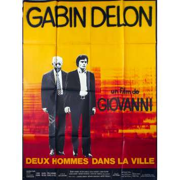 TWO MEN IN TOWN Original Movie Poster - 47x63 in. - 1973 - José Giovanni, Alain Delon