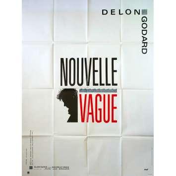 NOUVELLE VAGUE Affiche de film - 120x160 cm. - 1990 - Alain Delon, Jean-Luc Godard