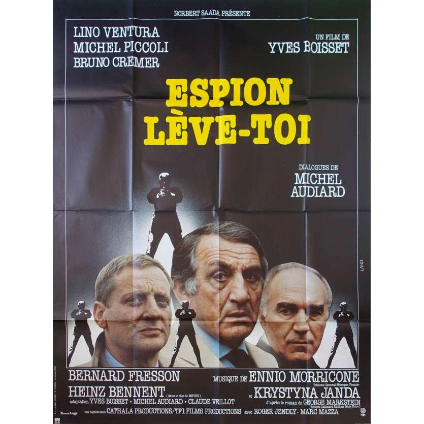 ESPION LEVE TOI Original Movie Poster - 47x63 in. - 1982 - Yves Boisset, Lino Ventura