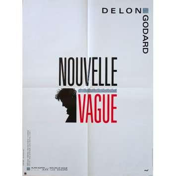 NOUVELLE VAGUE Affiche de film - 60x80 cm. - 1990 - Alain Delon, Jean-Luc Godard