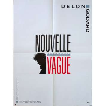 NOUVELLE VAGUE Original Movie Poster - 23x32 in. - 1990 - Jean-Luc Godard, Alain Delon